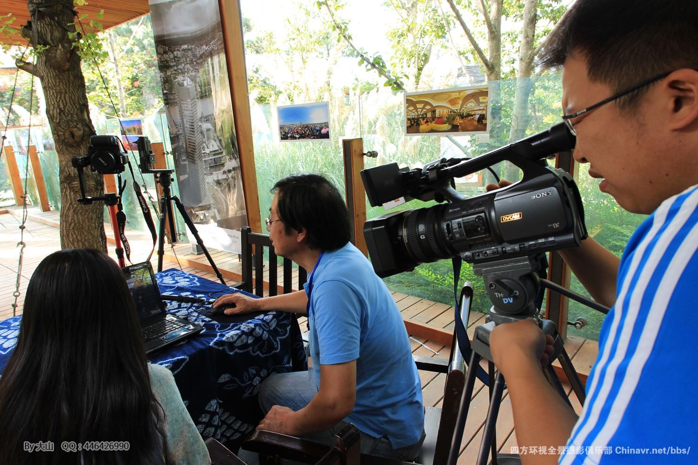 大理电视台采访全景摄影展区策展人-李景超