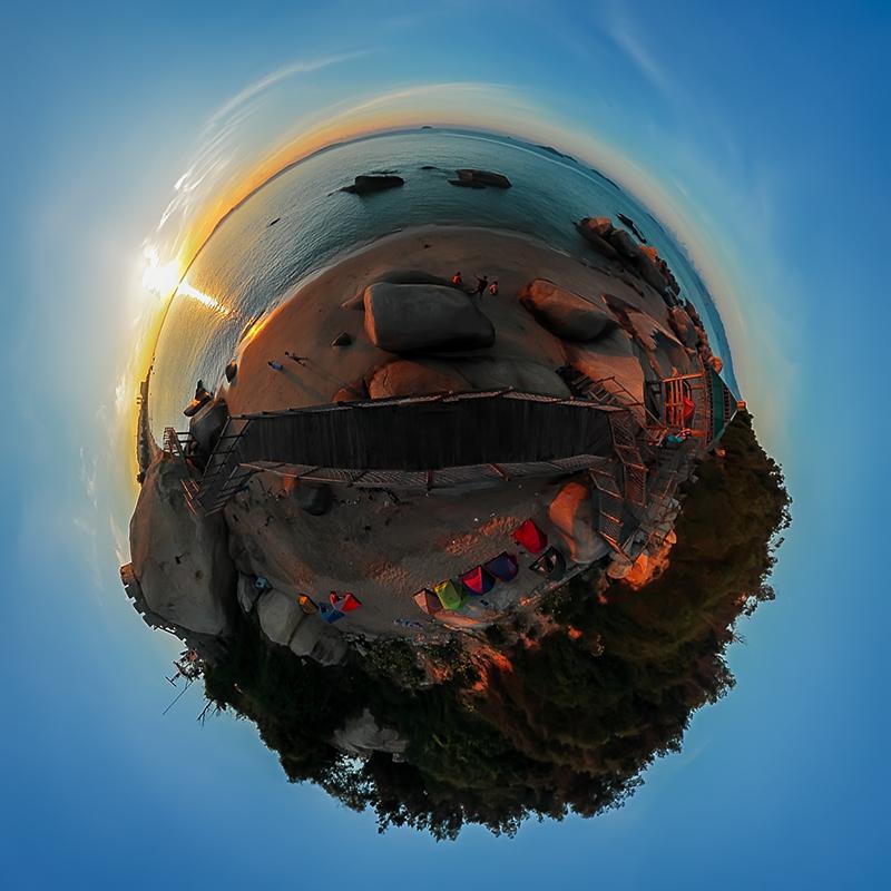 在厦门太阳湾看日出