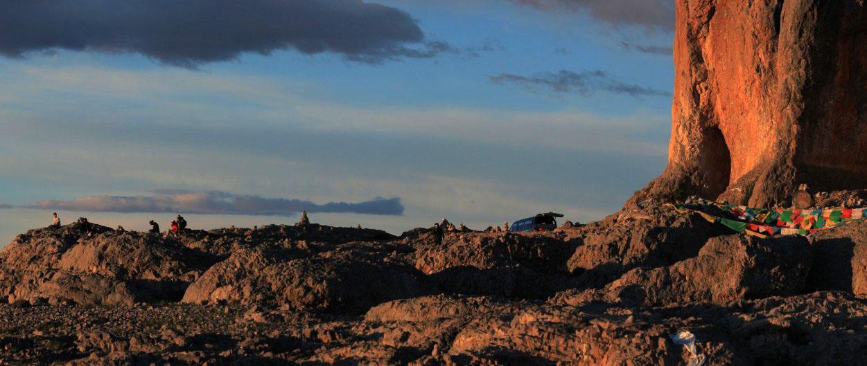 夕阳下的扎西半岛,李景超摄于纳木错