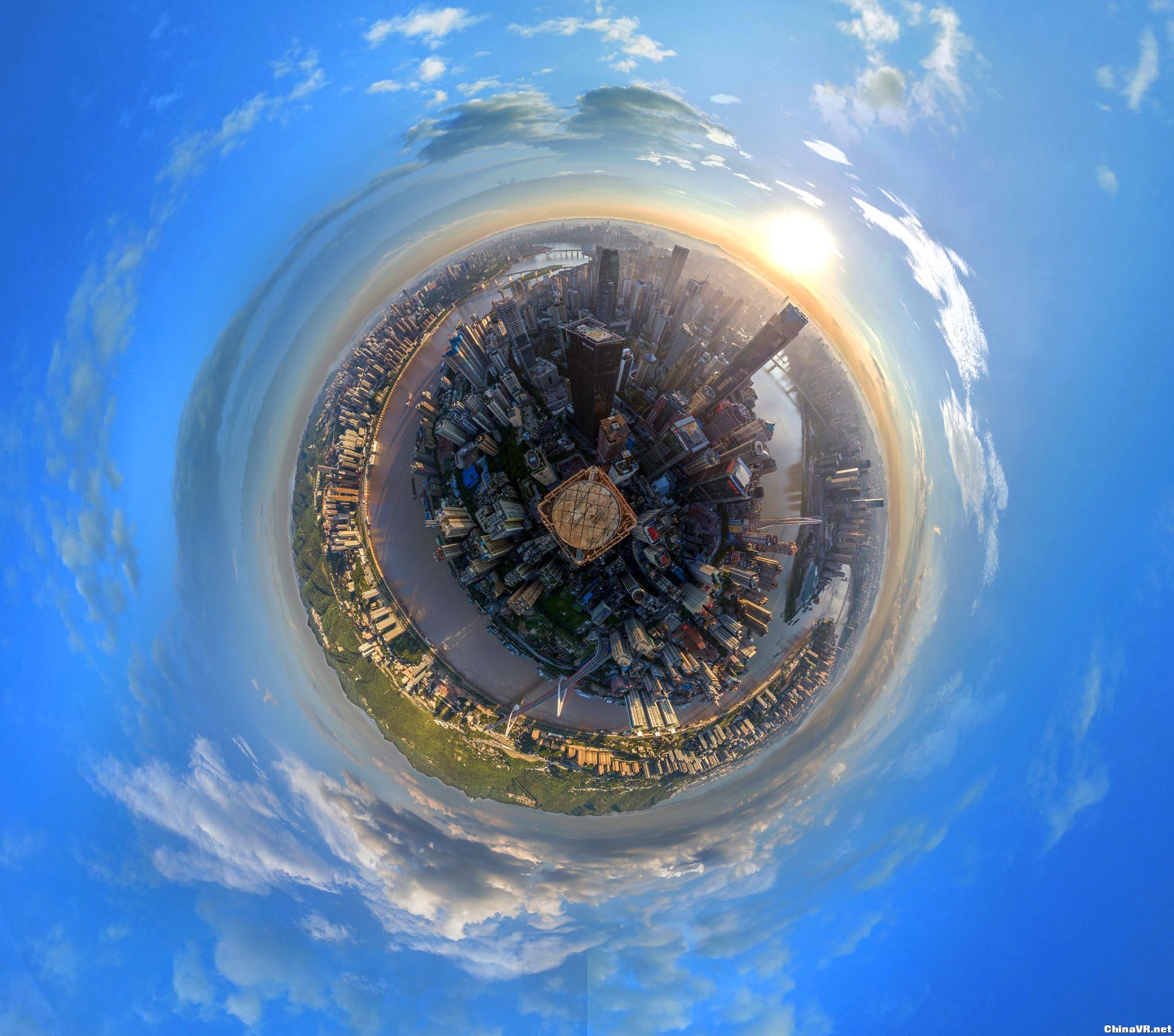 重庆渝中半岛全景——摄于联合国际楼顶停机坪 Panorama_1.jpg