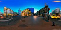 布达佩斯街头夜景